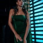 Фотосессия Инны в зеленом платье